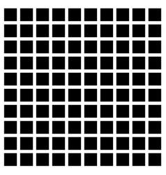 Simple mesh of black squares on white art vector