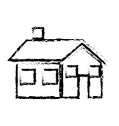 Sketch house home real state architecture vector