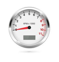 Tachometer 3d round gauge vector