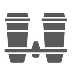 Take away coffee cups glyph icon coffee vector