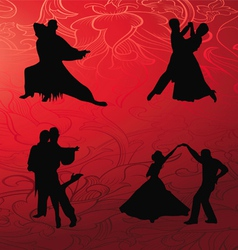 Tango dance collection vector