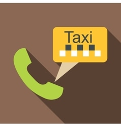 Taxi phone icon flat style vector