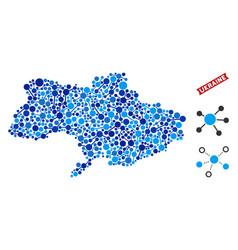 Ukraine map links composition vector