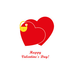 Valentines day card hearts and padlock vector