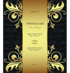 Vintage Floral Card Template vector image vector image