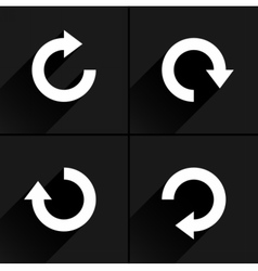 White arrow icon refresh rotation reload sign vector
