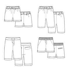 White shorts vector image
