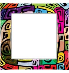 Colorful modern frame vector