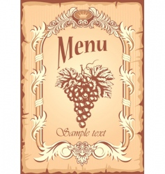 grape label vector image vector image