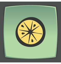 Outline lemon or orange slice fruit icon modern vector