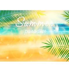 Summer calligraphic design vector