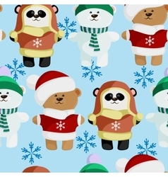 cute bear pattern frosty vector image vector image