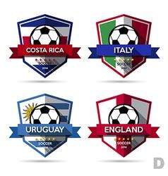 Set of soccer football badge vector image