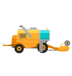 type of agricultural yellow vehicle or harvester vector image vector image
