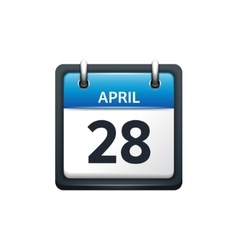 April 28 Calendar icon flat vector image vector image
