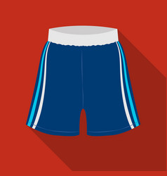 boxing shorts icon in flate style isolated on vector image vector image