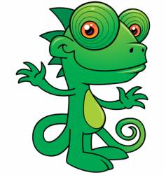 chameleon character vector image