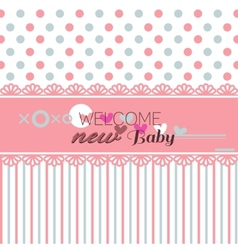 Cute welcome baby shower vector image