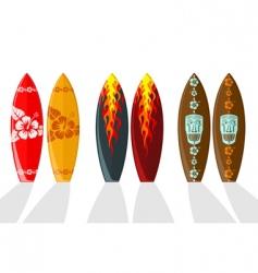 set of vector surf boards vector image vector image