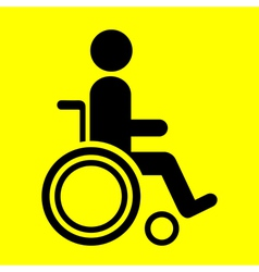 sign wheelchair vector image