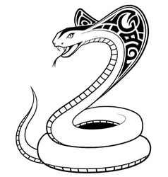 Snake tribal tatto vector image vector image