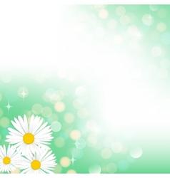 Spring green bokeh background vector