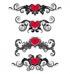 valentine ornaments vector image
