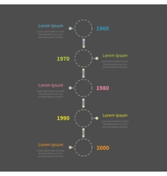 Dash line round icon Timeline vertical Infographic vector image