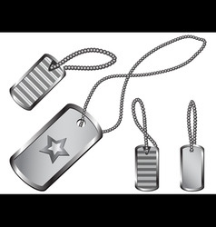 dog tag set vector image vector image