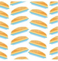 pumpkin pie food thanksgiving day seamless pattern vector image