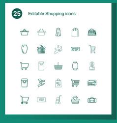 25 shopping icons vector