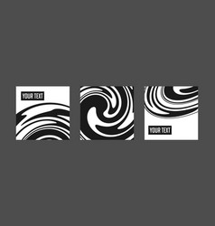 Abstract black background with waves and swirls vector