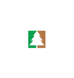 abstract christmas tree logo icon vector image