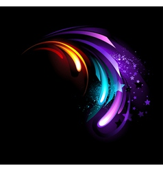 Abstract purple crystal vector image