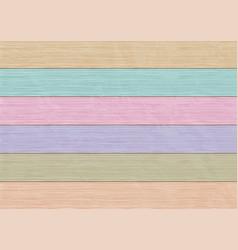 Background multicolor wooden boards vector