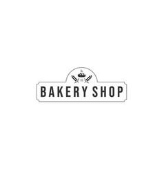 bakery logo designs modern logo type vector image