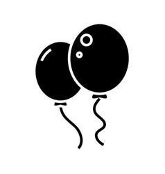balloons black icon concept vector image