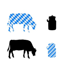 Bavarian milk cow vector image