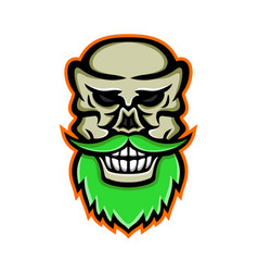 Bearded skull or cranium mascot vector