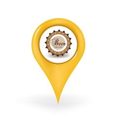 Beer Location vector image