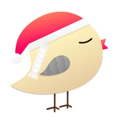 Birdy in red hat vector