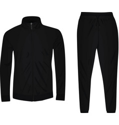 Black tracksuit vector