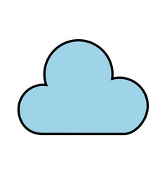 blue cloud cartoon vector image