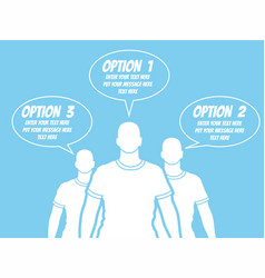 businessman option template step ranking blue 2 vector image