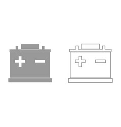 car battery it is black icon vector image