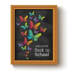 chalkboard butterfly vector image