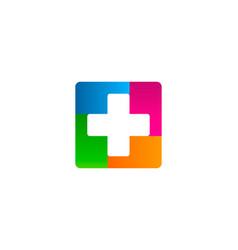 color medical logo icon design vector image