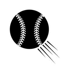Contour ball to play baseballl icon vector