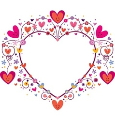 cute heart frame vector image