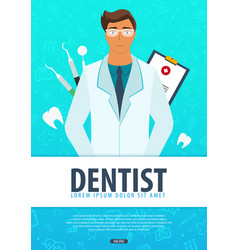 Dentist medical background health care vector